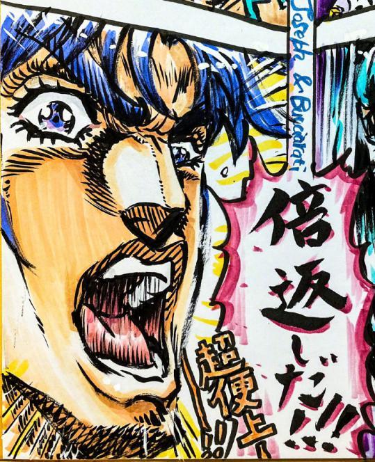 「JOJO的奇妙冒险」作画监督绘制乔斯达、布差拉提生日贺图公开