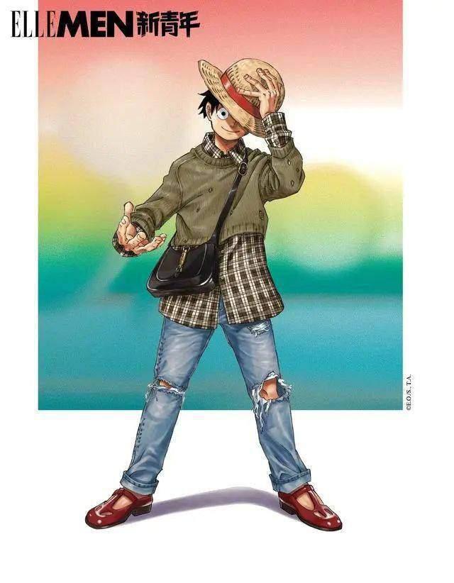 「海贼王」联动Gucci 「ELLEMEN新青年」杂志周年刊封面及内页公开