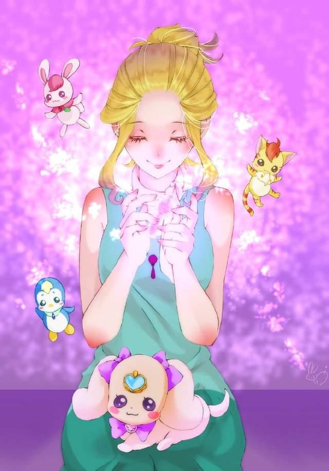 悠木碧公开自绘「光之美少女」角色图