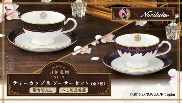 Noritake与「刀剑乱舞」合作推出角色周边茶具