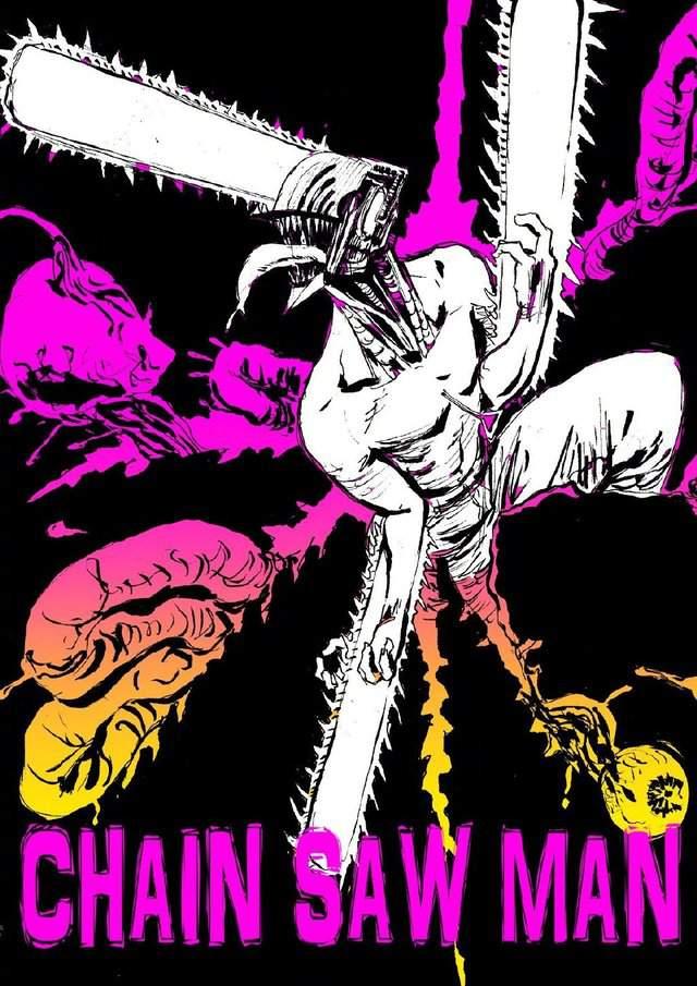 「地狱乐」作者贺来友治分享「电锯人」绘图