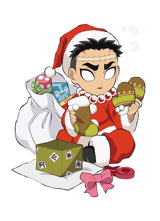 「鬼灭之刃」圣诞人物绘图公开