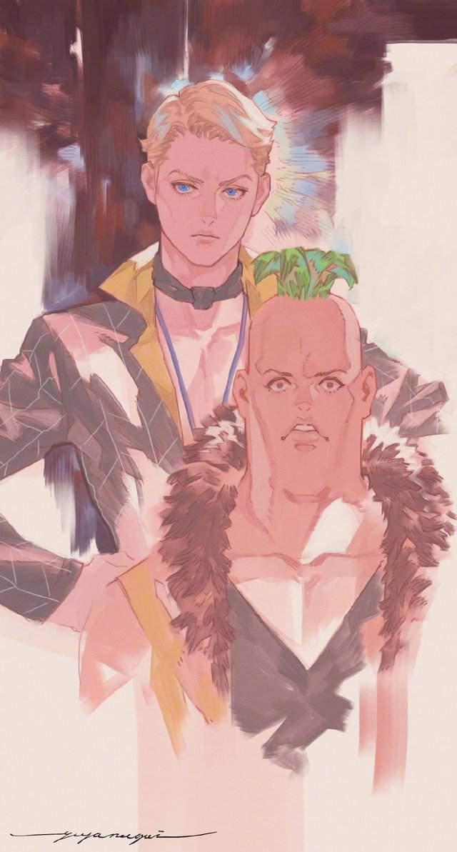 永井悠也公开大量其绘制的「JOJO的奇妙冒险」角色绘图