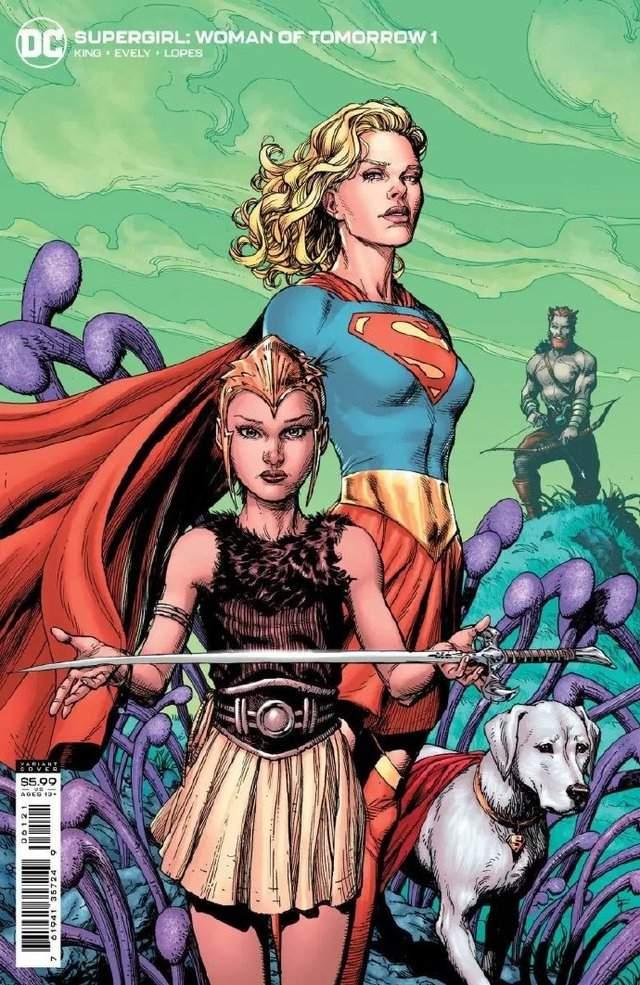 画师绘制「Supergirl:WoT」第1期变体封面新人物登场